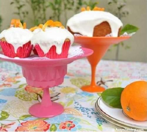 آموزش تصویری ساخت ظرف کیک خوری ساده