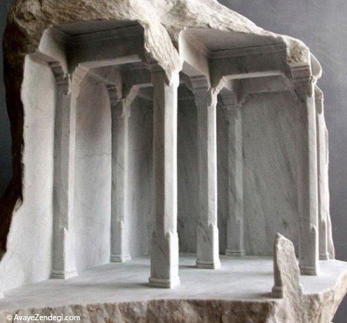 کنده کاری های جالب روی سنگ