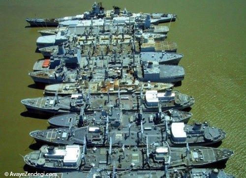 قبرستان جالب کشتی های جنگی