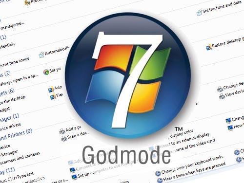 فعال کردن Godmode در ویندوز 7