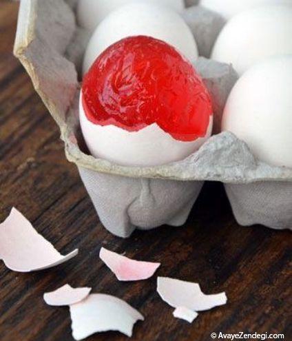 ژله های تخم مرغی خوش رنگ و مزه