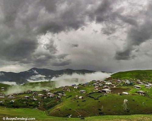 طبیعت جاده اسالم به خلخال در استان گیلان