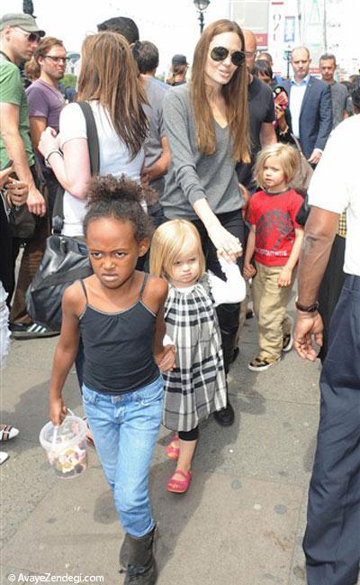 عکس های آنجلینا جولی و فرزندانش