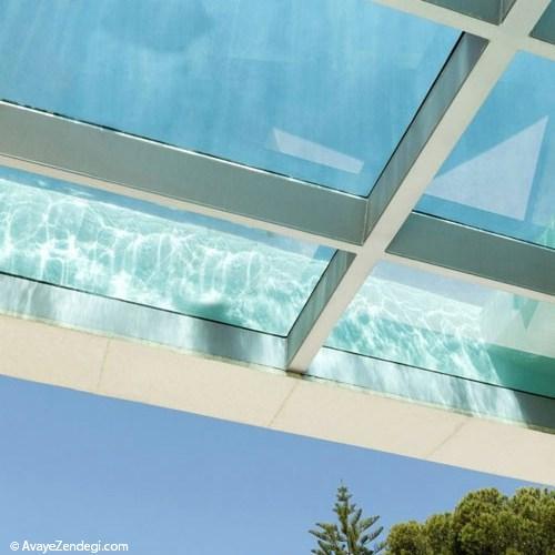 سازه فضایی | سقف شیشه ای استخر - سازه فضایی... مجله اینترنتی آوای زندگی - سقف شیشه ای این خانه استخر استسقف شیشه ای  این خانه ...