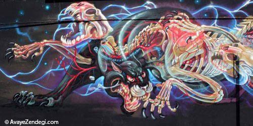 موجودات مختلف در نقاشی های خیابانی