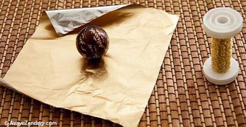 آموزش بسته بندی شکلات به صورت دسته گل