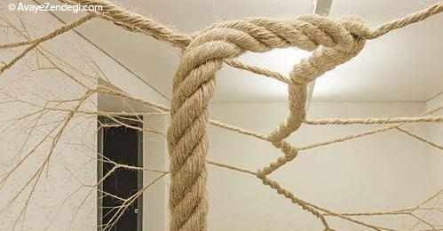 سازه جالب ساخته شده با طناب