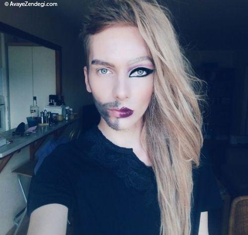 تبدیل شدن پسر به دختر با آرایش