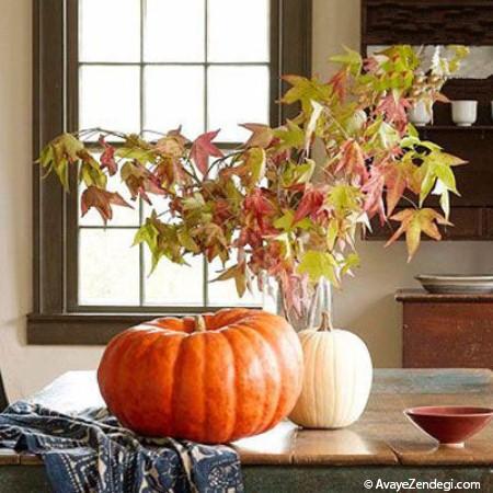 دکور پاییزی خانه با عناصر طبیعی (2)