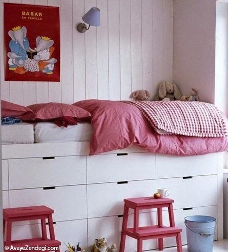 نحوه استفاده بهتر از فضاهای زیر تخت