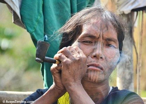 آرایش دردناک زنان میانمار