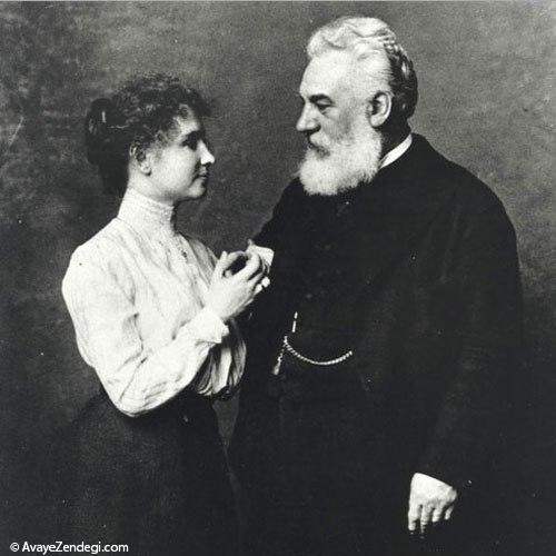 هلن کلر در کنار گراهام بل