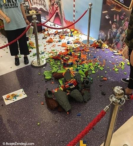 ویرانی مجسمه 15000 دلاری در چند ثانیه!