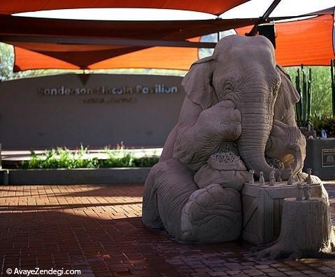 تصاویری از مجسمه ماسه ای عظیم