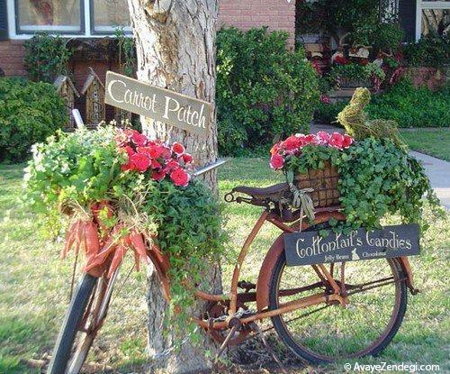 ایده هایی جالب برای استفاده از دوچرخه های قدیمی