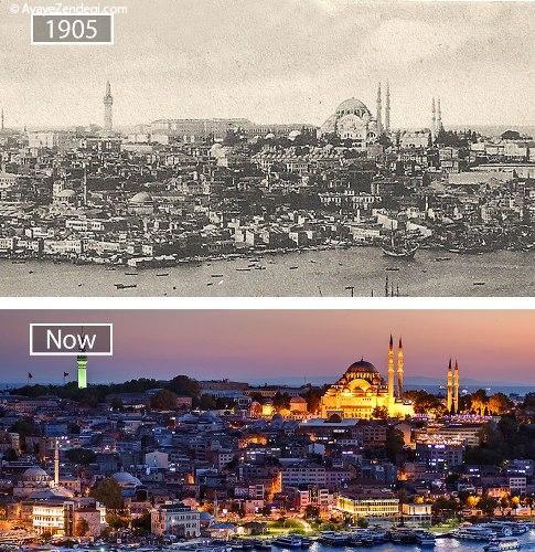 تغییرات 30 مکان معروف جهان در گذر زمان
