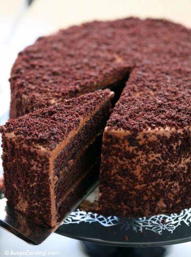 تزئین کیک های شکلاتی برای کریسمس