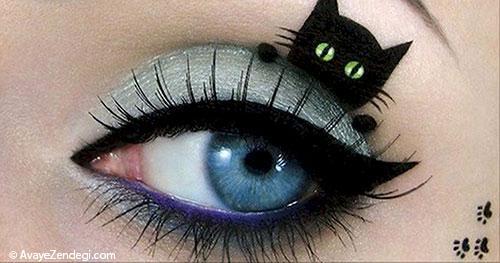 12 مدل آرایش چشم ویژه هالوین برای خیره کردن چشم ها