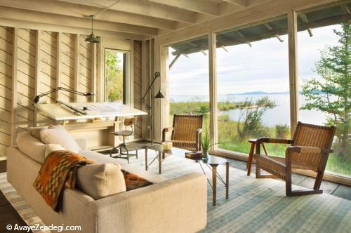 خانه ای آرامش بخش در کنار جنگل و دریاچه