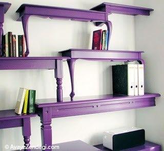 ایده های جالب، مفید و خنده دار برای قفسه کتاب