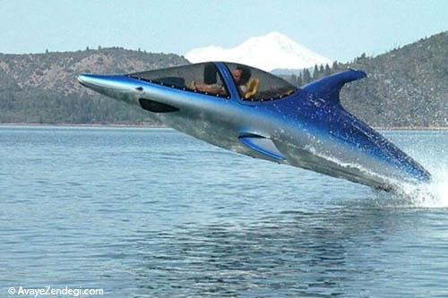 جت اسکی جالب با طرح دلفین