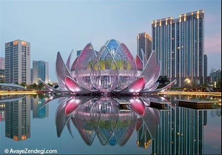 ساختمانی جالب به شکل گل نیلوفر