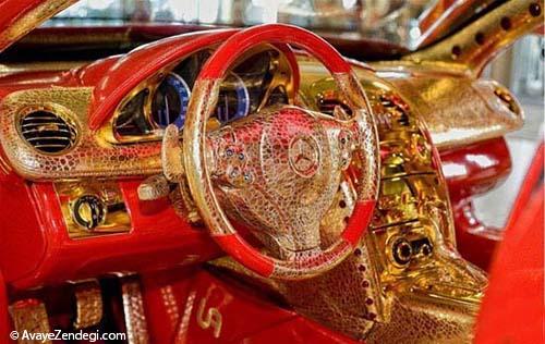 مرسدس بنز ساخته شده از طلا، یاقوت و الماس